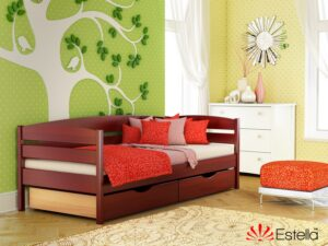 Деревянная кровать из бука НОТА ПЛЮС ТМ Эстелла 80×190/200 см