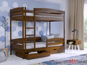 Двухъярусная кровать из бука ДУЭТ ПЛЮС ТМ Эстелла 80×190/200